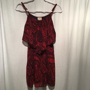 Eyelash Couture Spagetti Strap Dress SZ S